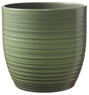 Bergamo Ceramic Pot Leave Green Glaze (13cm)