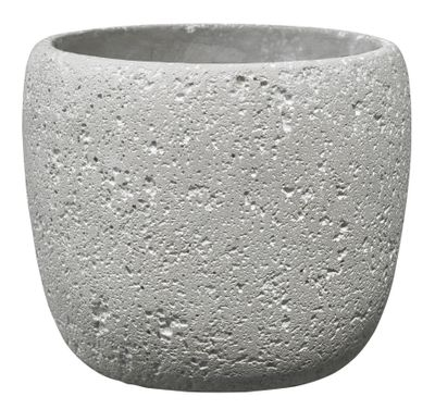 Bettona Ceramic Pot Cement Light Gray (19cm)