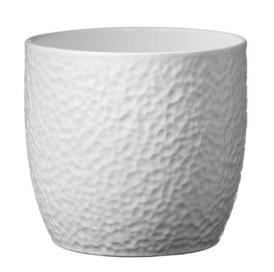 Boston Ceramic Pot Matte White (19cm)