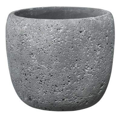 Bettona Ceramic Pot Cement Dark Gray (22cm)