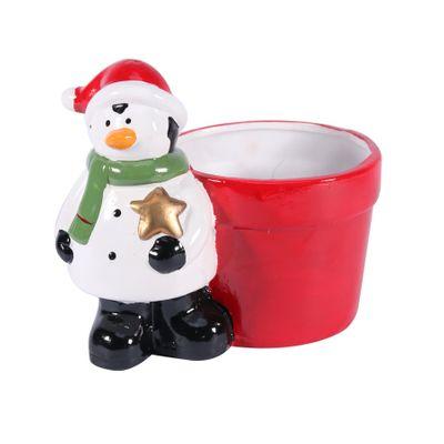Novelty Ceramic Pot w/Penguin (24)