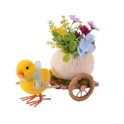 Display Duckling with Cart 11.5x20x17