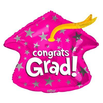 Congrats Grad Pink Cap (18 Inch)