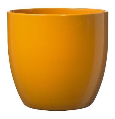 Basel Full colour Pot - Shiny Orange (10cm x 8cm)