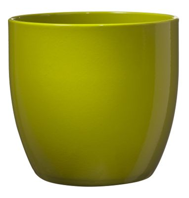 Basel Full colour Pot - Shiny Lime (10cm x 8cm)