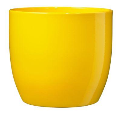 Basel Full colour Pot - Shiny Sunny Yellow (10cm x 8cm)