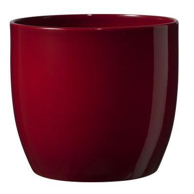 Basel Full colour Pot - Shiny Bordeaux (13cm x 12cm)