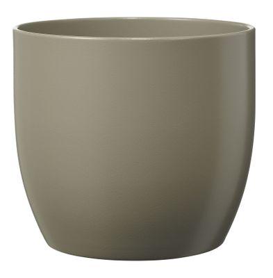 Basel Fashion Pot - Matt Light Gray (16cm x 15cm)