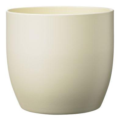 Basel Fashion Pot - Matt Cream (14cm x 13cm)