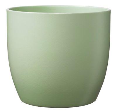 Basel Fashion Pot - Matt Linden Green (12cm x 10cm)