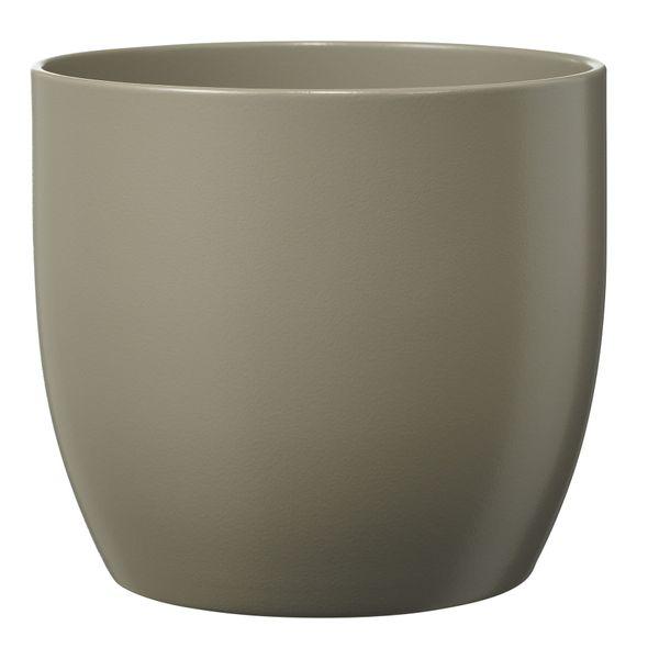 Basel Fashion Pot - Matt Light Grey (19cm x 18cm)