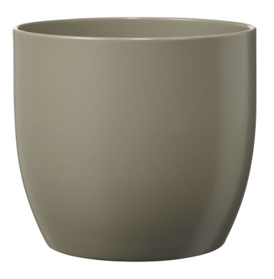 Basel Fashion Pot - Matt Light Gray (21cm x 20cm)