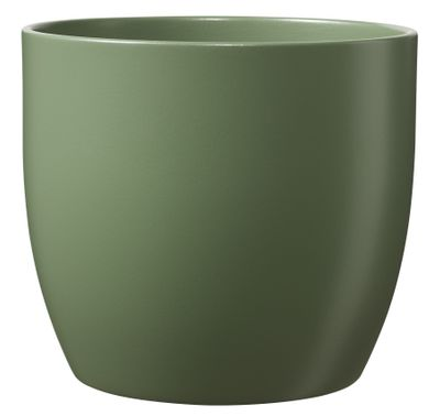Basel Fashion Pot - Matt Moss Green (13cm x 12cm)