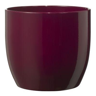 Basel Fashion Pot -  Shiny Cyclamen (24cm x 23cm)