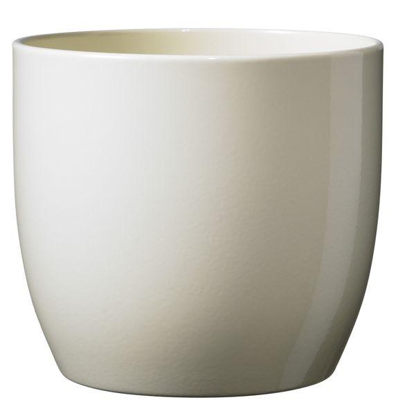 Basel Full Colour Pot - Shiny Vanilla (16 x 15cm)