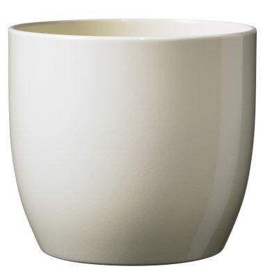 Basel Full Colour Pot - Shiny Vanilla  (21 x 20cm)