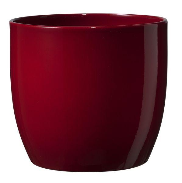 Basel Full Colour Pot - Shiny Bordeaux  (27 x 26cm)