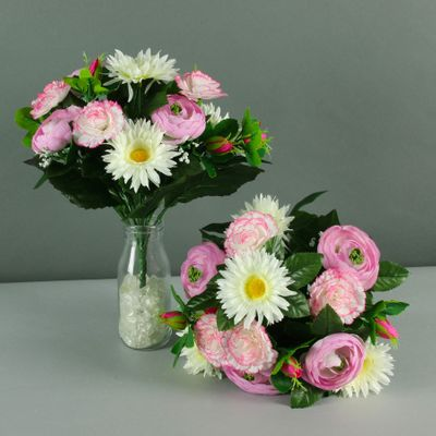 mixed pretty bouquet cream pink X12