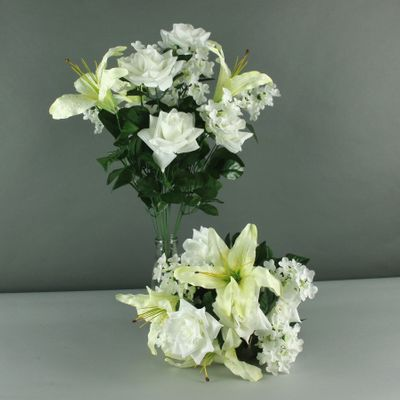 Lily rose hydrangea mixed bush x 14 cream