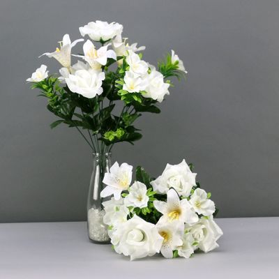 Lily rose mixed bush x 12 cream