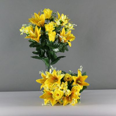 Lily rose bush x 18 yellow