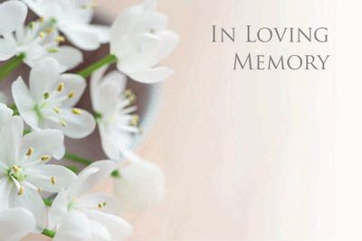 In Loving Memory Small Greeting Cards (x50)