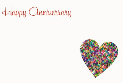 Happy Anniversary Small Greeting Cards (x50)