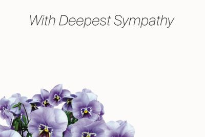 With Deepest Sympathy Small Greeting Cards (x50)
