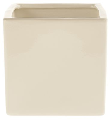 Shiny Cream Latina Pot (13cm x 13cm)