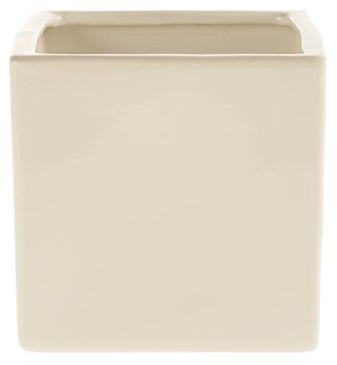 Shiny Cream Latina Pot (17cm x 17cm)