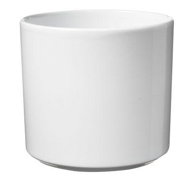 Las Vegas Pot -Shiny White (17 x 18cm)