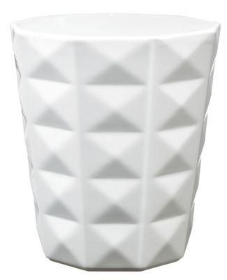 Kyoto Orchid vase - Shiny White (15 x 13cm)