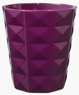 Kyoto Orchid vase - Shiny Blackberry (15 x 13cm)