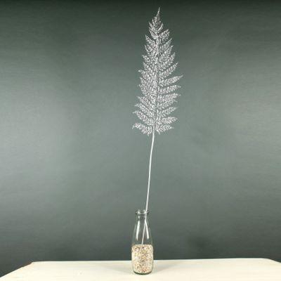 Glitter Large Fern Leaf  (Silver) (36/288)