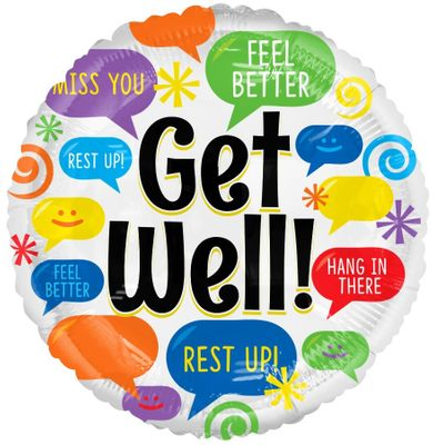 Get Well Balloon (18 inch)