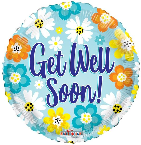 Get Well Bright Colours Balloon (18 inch)