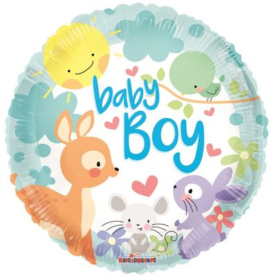 Baby Boy Animals Balloon (18 inch)