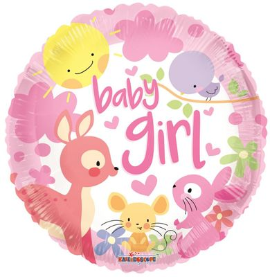 Baby Girl Animals Balloon ( 18 inch)