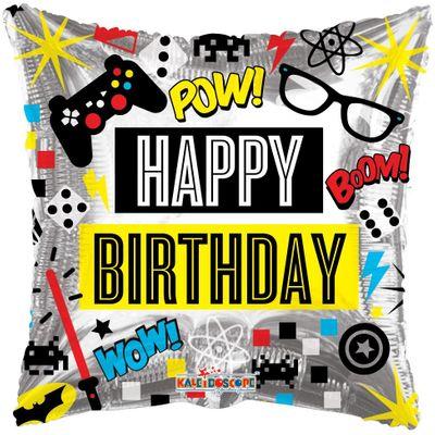 Birthday - Computer Games Balloon (18 inch)