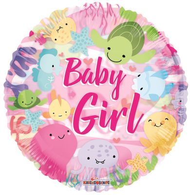 Baby Girl Under the Sea Balloon (18 inch)