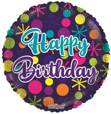 Birthday Dots Balloon (18 inch)