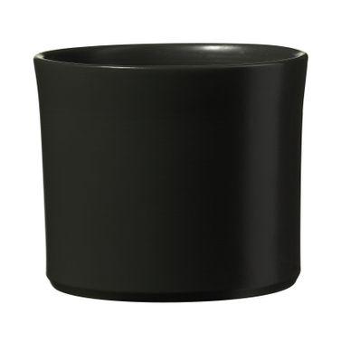 Miami Ceramic Pot - Matte Anthracite - (40 x 35cm)