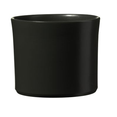Miami Ceramic Pot - Matte Anthracite - (24 x 21cm)