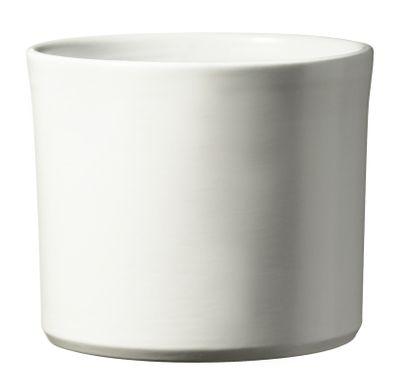 Miami Ceramic Pot - Matte White - (24 x 21cm)