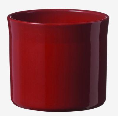 Miami Ceramic Pot - Shiny Bordeaux - (32 x 28cm)