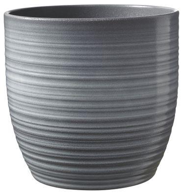 Bergamo Ceramic Pot Light Grey Glaze (19cm)