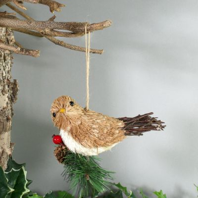 Hanging Bird on branch (Light Brown) (6/144)