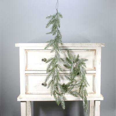 Pine garland w/glitter (180cm) (12/72)
