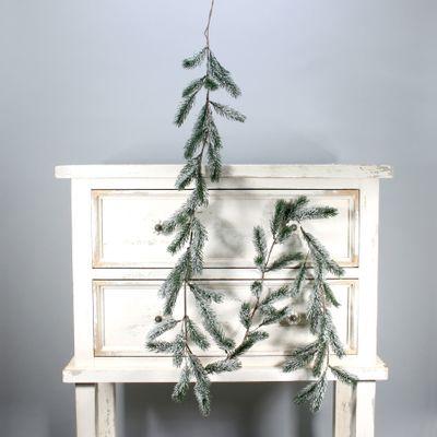 Dark Green Pine garland w/snow (180cm) (12/120)