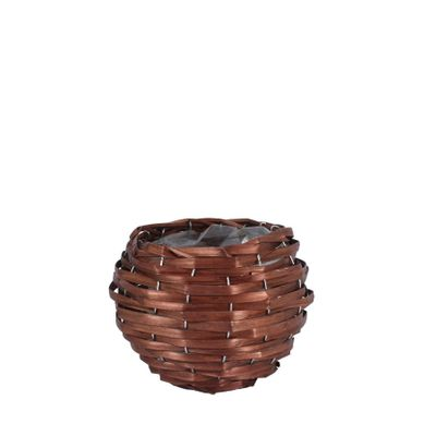 13cm Round Woodhouse Basket - Nut Brown